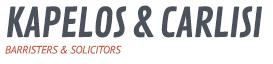 Kapelos & Carlisi | Barristers & Solicitors